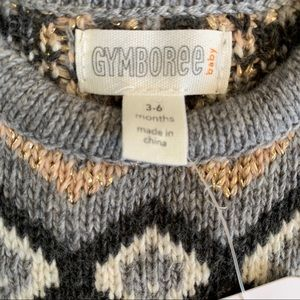 Gymboree Dresses - NWT Gymboree Ivory Fair Isle Sweater Dress